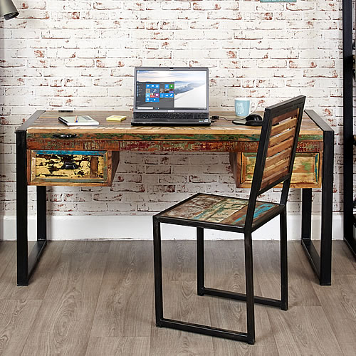 Reclaimed wood desk / dressing table - Urban Chic