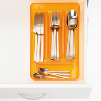 Reo Cutlery Tray - Transparent