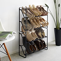 4 Tier Slimline Shoe Rack