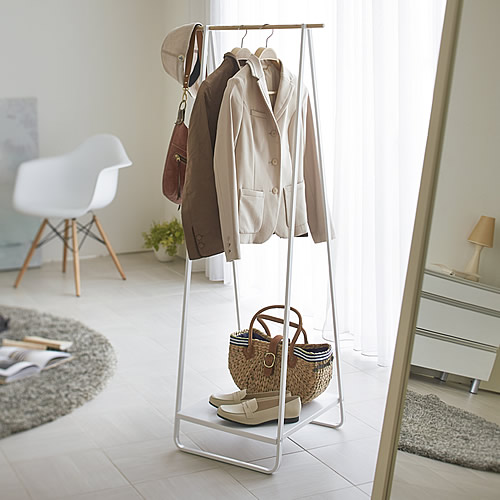 Scandi inspired clothes storage rack