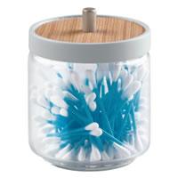 Glass & Wood Vanity Storage Jar