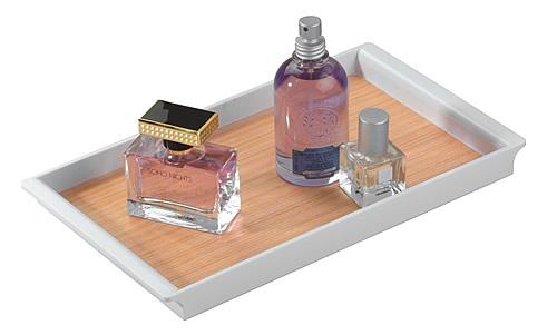 Light Wood Vanity Tray