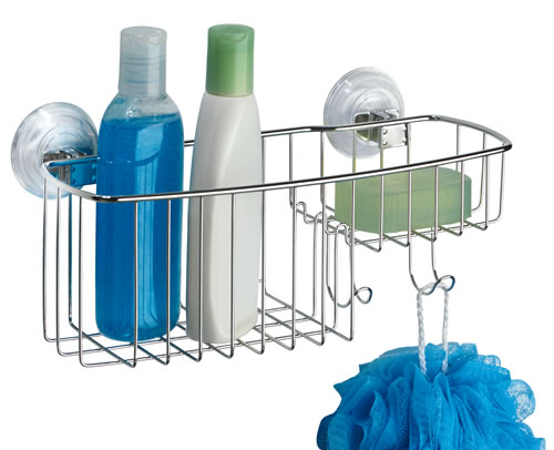 Stainless steel suction shower caddy