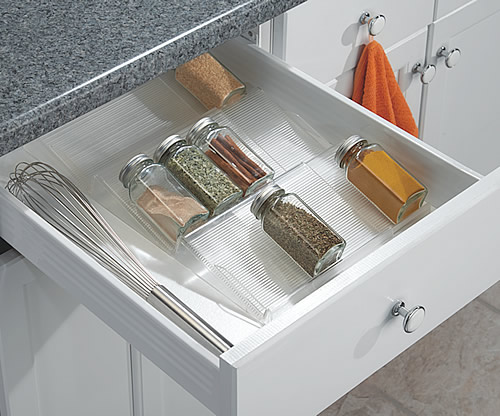 Clear Acrylic Extendable Spice Storage Rack