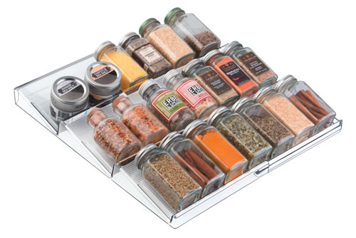 Clear acrylic extendable spice storage rack