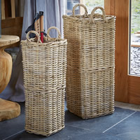 Buff Rattan Umbrella Stand - Small