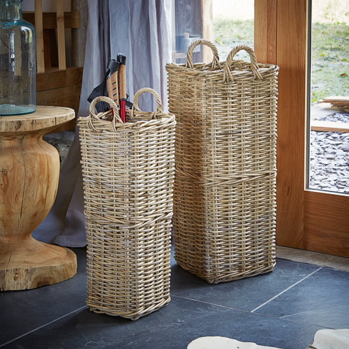 Buff rattan umbrella stand