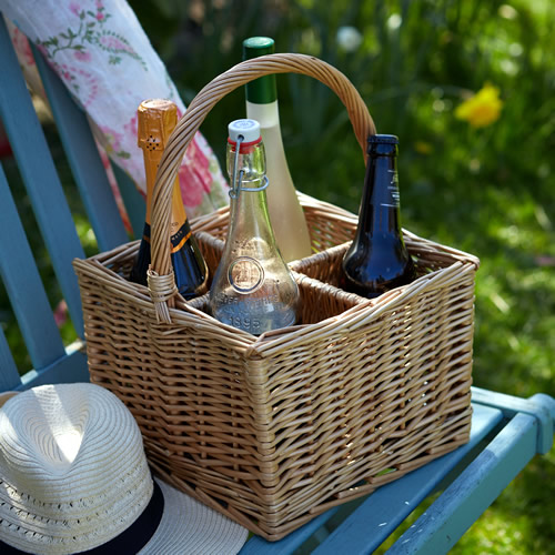 Wicker Bottle Carrier