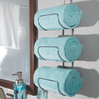Wall Mounted / Over Door Towel Rack