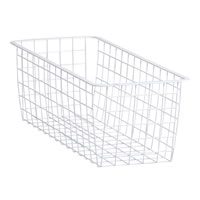 25cm x 54cm White Elfa Basket - Medium