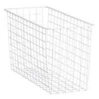 25cm x 54cm White Elfa Basket - Deep