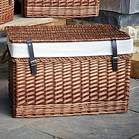 Wicker Chest with Rope Handles - Large