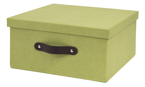 Lidded fibreboard storage box