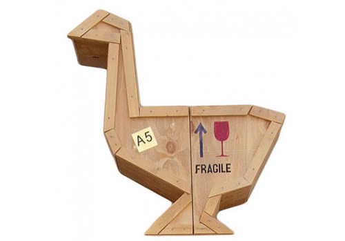 Packing Crate Side Table - Goose