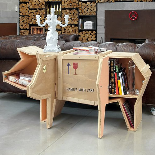 Packing crate pig coffee table