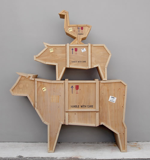 Packing Crate Pig Sideboard / Coffee Table