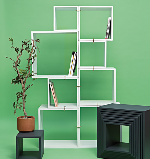 Assemblage 8 cube modular shelving system