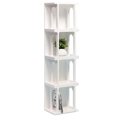 Wooden bookcase shelving unit modules