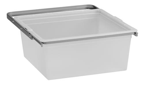 Translucent Medium Solid Elfa Drawer & Frame - 45cm Platinum