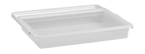 Translucent Shallow Solid Elfa Drawer & Frame - 60cm White