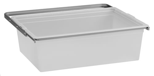 Translucent solid drawer and frame from elfa