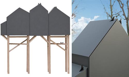 Palafitt highboard with doors - Seletti