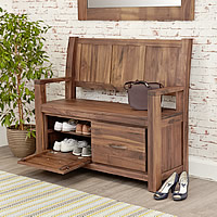 Bench With Shoe Storage - Mayan