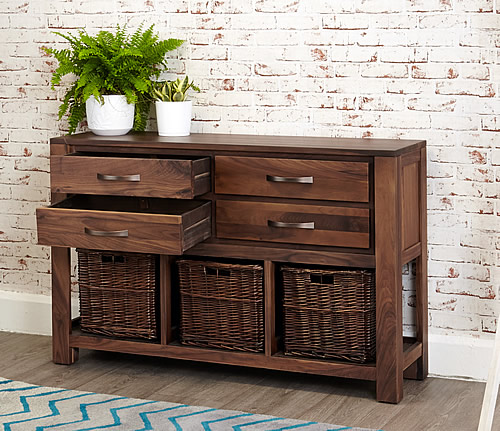 Store Walnut Console Table Mayan