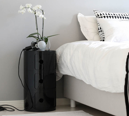 Kartell Componibili Inspired Large Storage Unit in Black