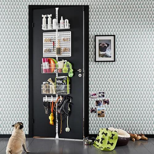 elfa door and wall rack storage solution