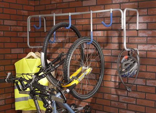 Garage storage rack with 5 hooks