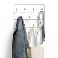 Wall Mounted / Over Door Multi Hook Organiser - Estique