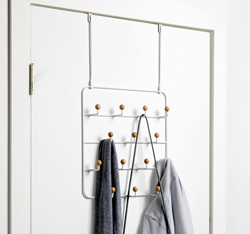Over door or wall mounted multi hook organiser