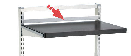 Elfa freestanding back stop bar - 90cm