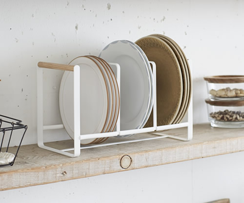 Triple vertical plate rack - Scandi inspired : stacked plate rack - pezcame.com