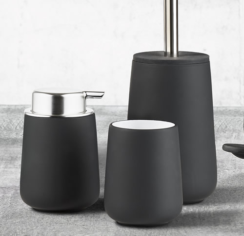 Soft coated porcelain bathroom tumbler