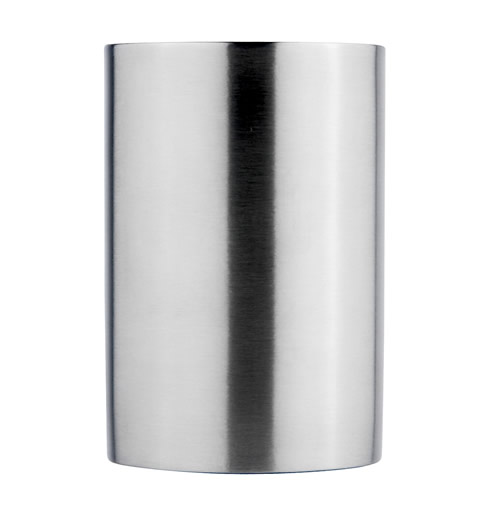 Stainless steel toothbrush storage cup