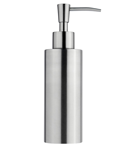 Matt stainless steel liquid soap dispenser