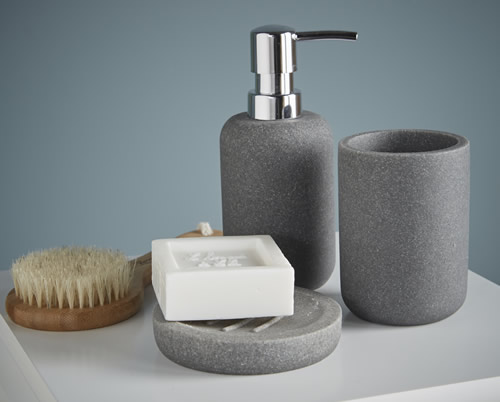 Concrete effect soap dispenser