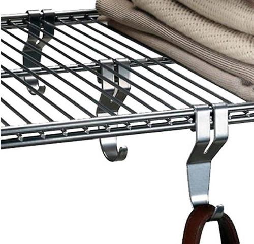 3 x Elfa Utility Shelf Hooks - Platinum