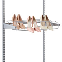 Triple Gliding Elfa Shoe Rack 60cm - Platinum