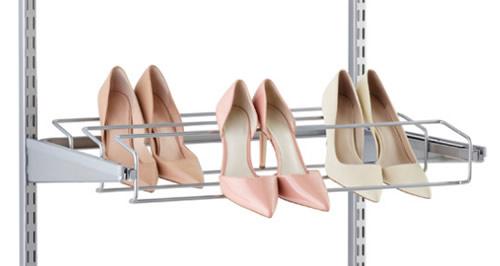 60cm wide triple gliding shoe rack from elfa