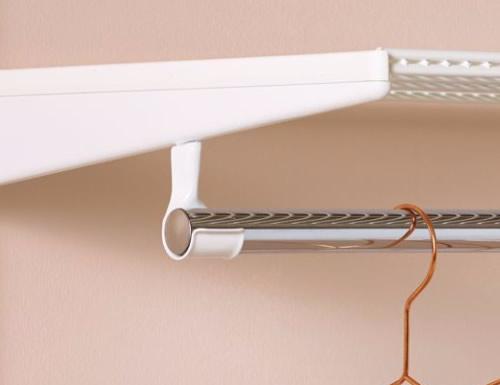 elfa clothes rail holder in white