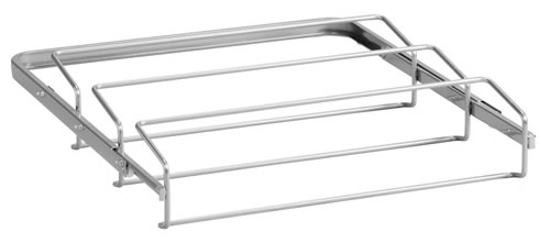 45cm wide triple gliding shoe rack from elfa in platinum