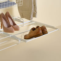 Elfa Gliding Shoe Shelf 60cm - White