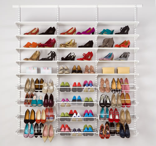 elfa gliding shoe shelf 60cm in white