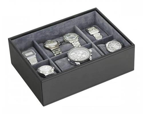 Men's watch storage stacker