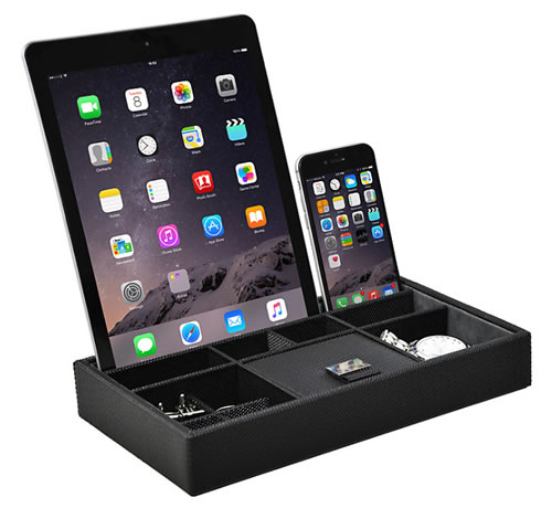 Dulwich Designs Monaco Valet Tray / tech storage stand