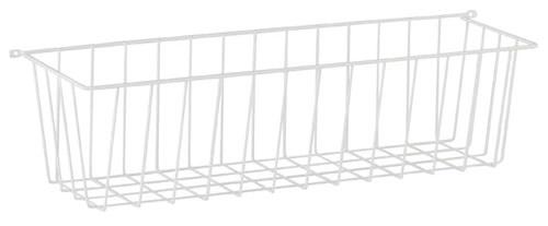 Elfa side basket in white 54cm deep