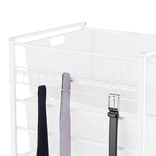 Elfa tie and belt hook in white - 44cm deep